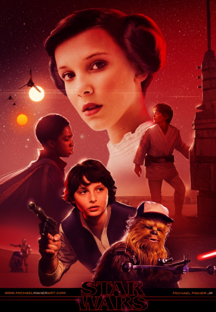 star wars stranger things poster