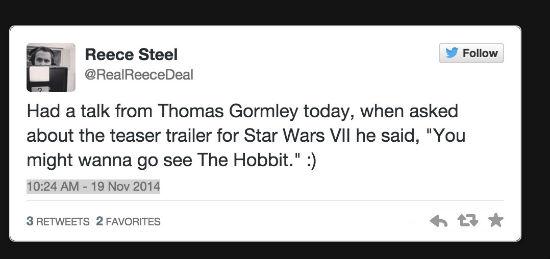 star wars trailer tweet