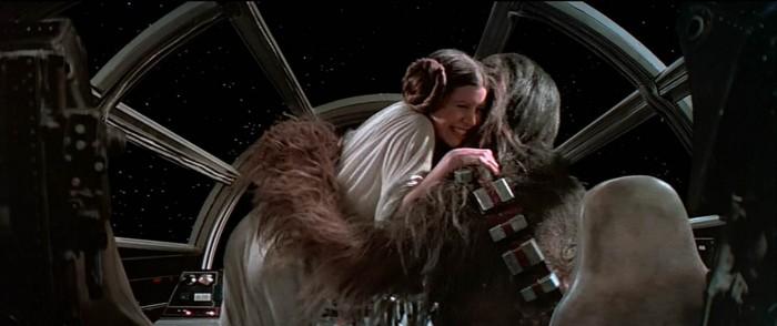star wars - leia hug
