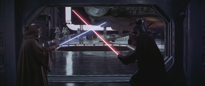 a new hope lightsaber duel