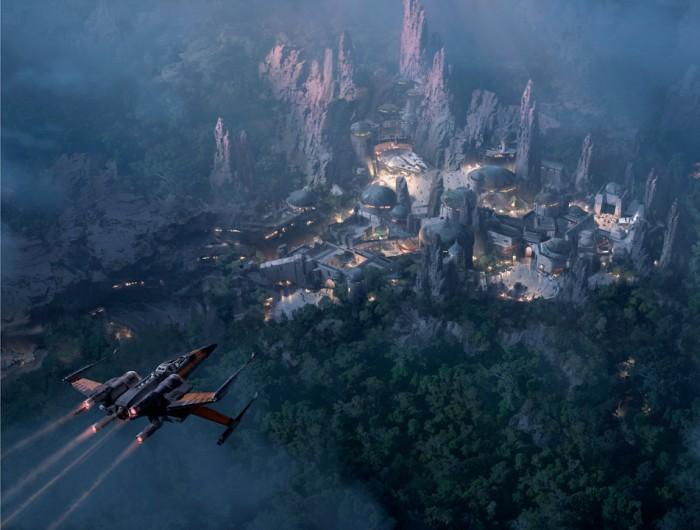 Star Wars Land at Night
