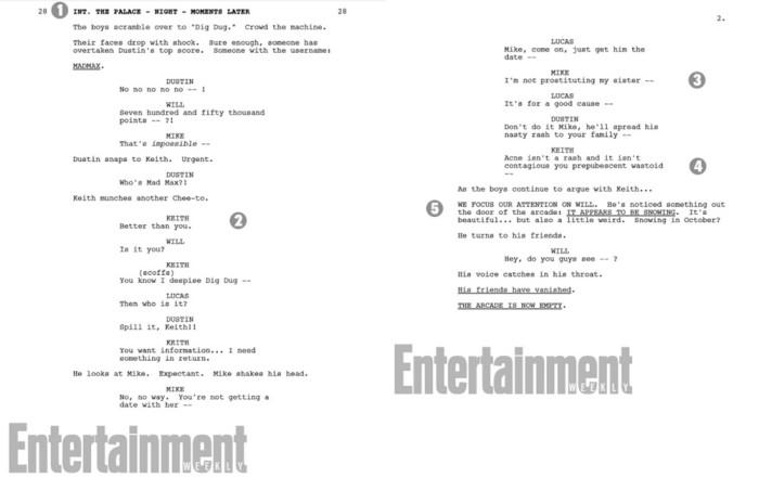 stranger things season 2 script