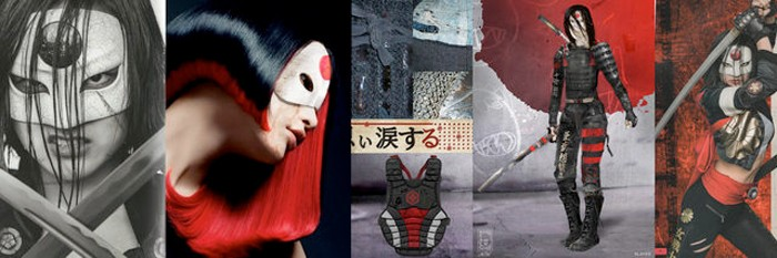 Suicide Squad Katana Concept Art