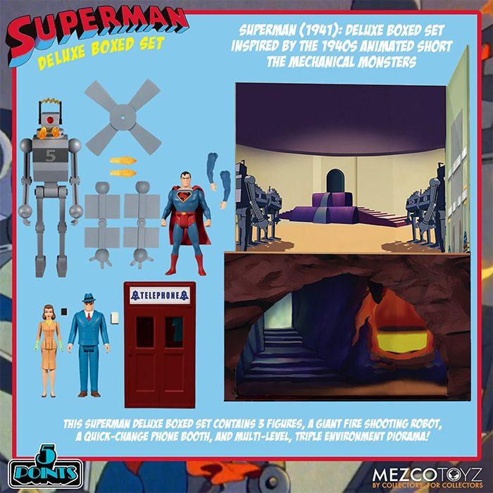 Mezco Toyz - Superman Figure Playset