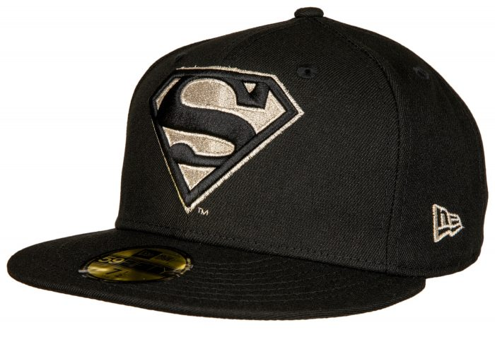 Superman Black Hat Silver Logo