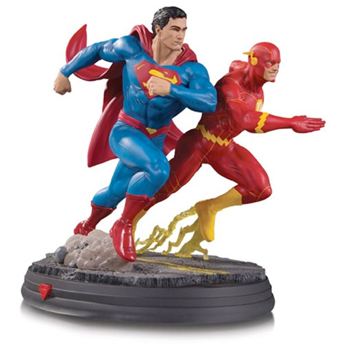 Superman vs The Flash Race Statue