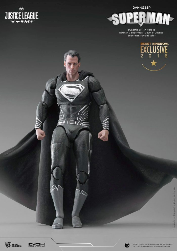 Beast Kingdom Black Suit Superman Figure
