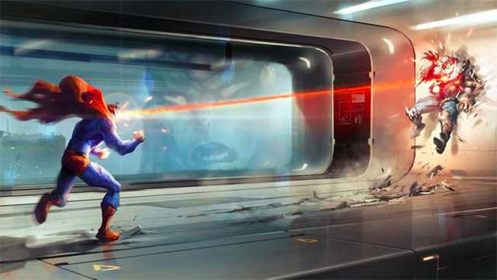 Superman Canceled Video Game Concept Art