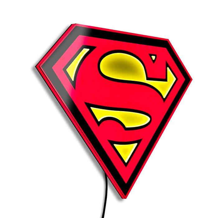 Superman Light-Up Wall Art