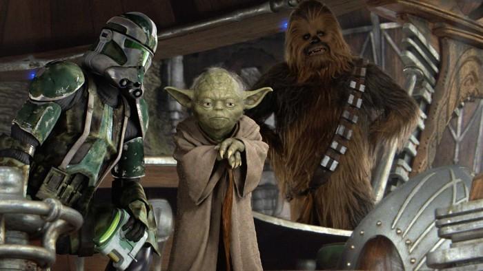 Yoda Meets Chewbacca