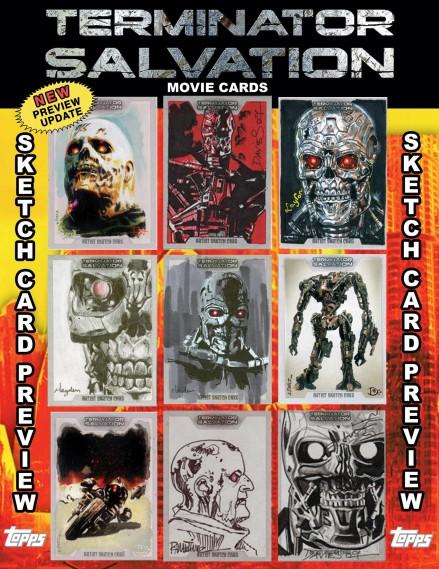 terminator salvation more sketch cards previews