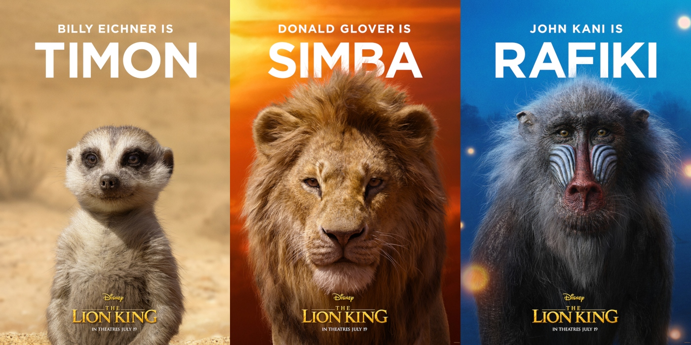 The Lion King Character Posters Released By Disney Film
