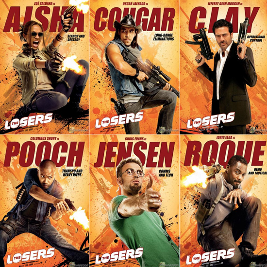 the losers character banners