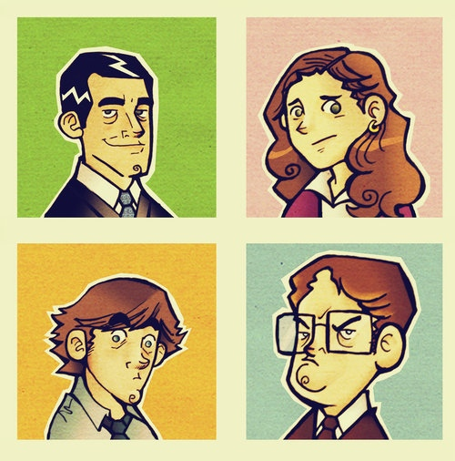 the office cartoon