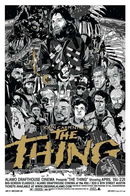 Metallic Variant of The Thing poster