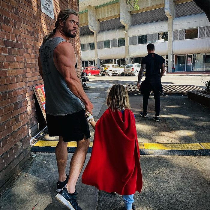 Thor with Son in Cape