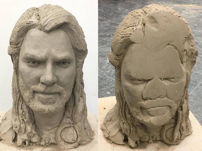 Thor Clay Bust