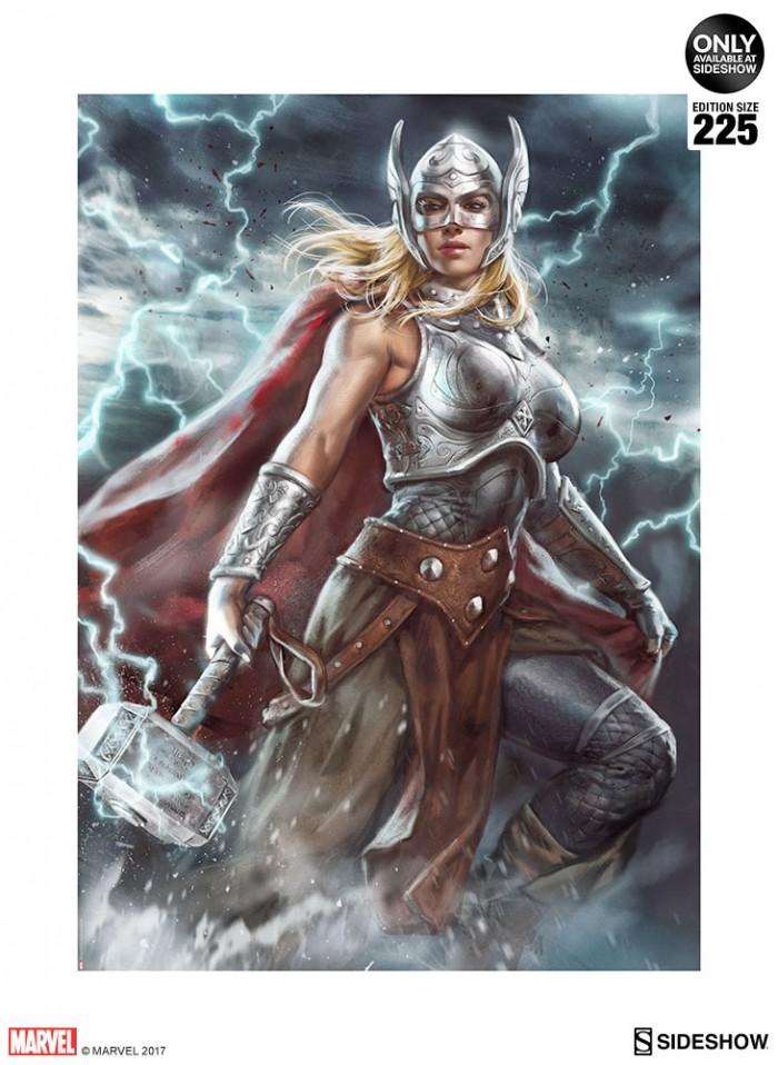 Thor - Jane Foster- Sideshow Print