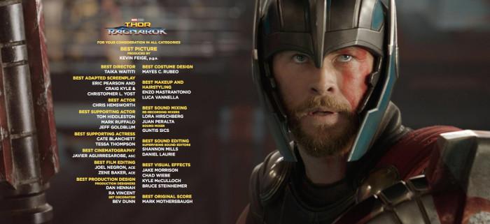 Thor: Ragnarok Awards Consideration