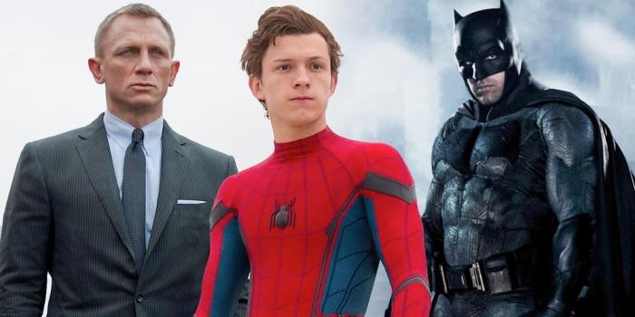 Spider-Man, James Bond and Batman