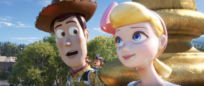 Toy Story 4 - Woody, Giggle McDimples, Bo Peep