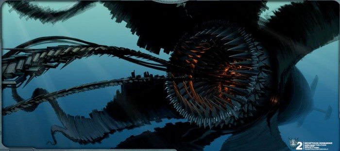 Transformers Revenge of the Fallen - Submarine Concept Art