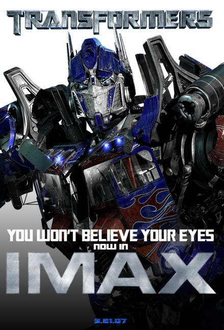 Transformers IMAX Poster