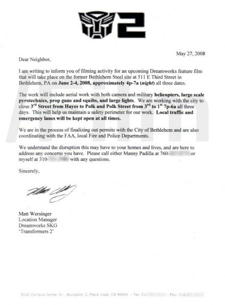 Transformers 2 letter