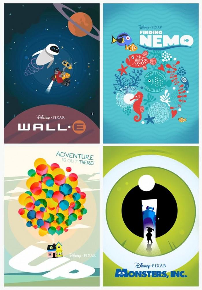 Laz Marquez's new Pixar posters