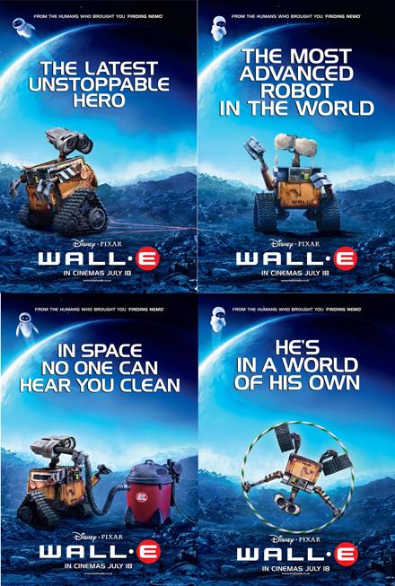 wall-e British movie posters
