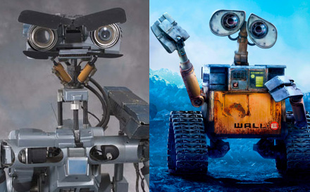 WALL-E vs. Short Circuit