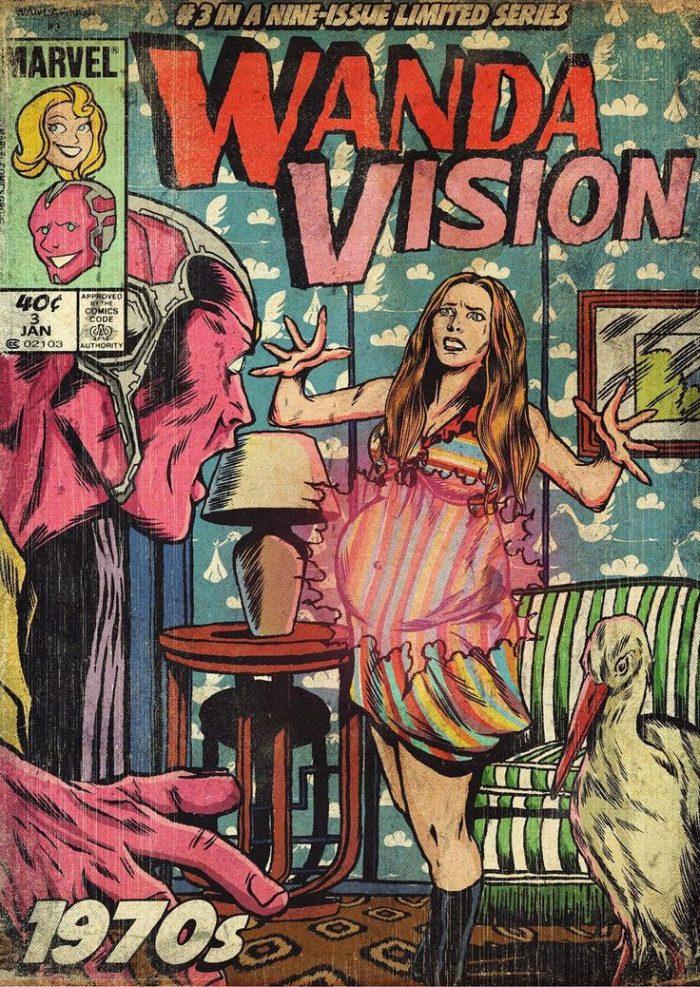 WandaVision Vintage Comic
