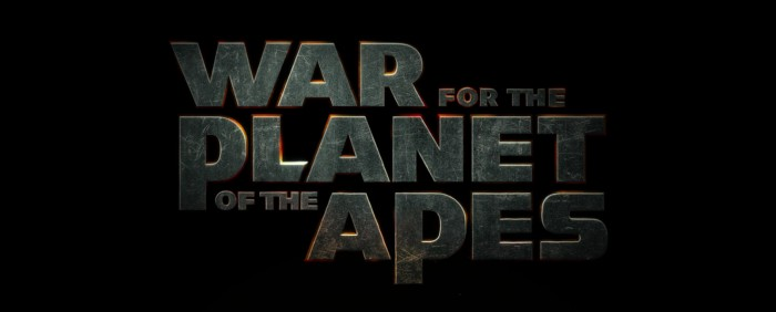 war for the planet of the apes title logo