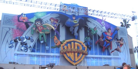 warner animation mural