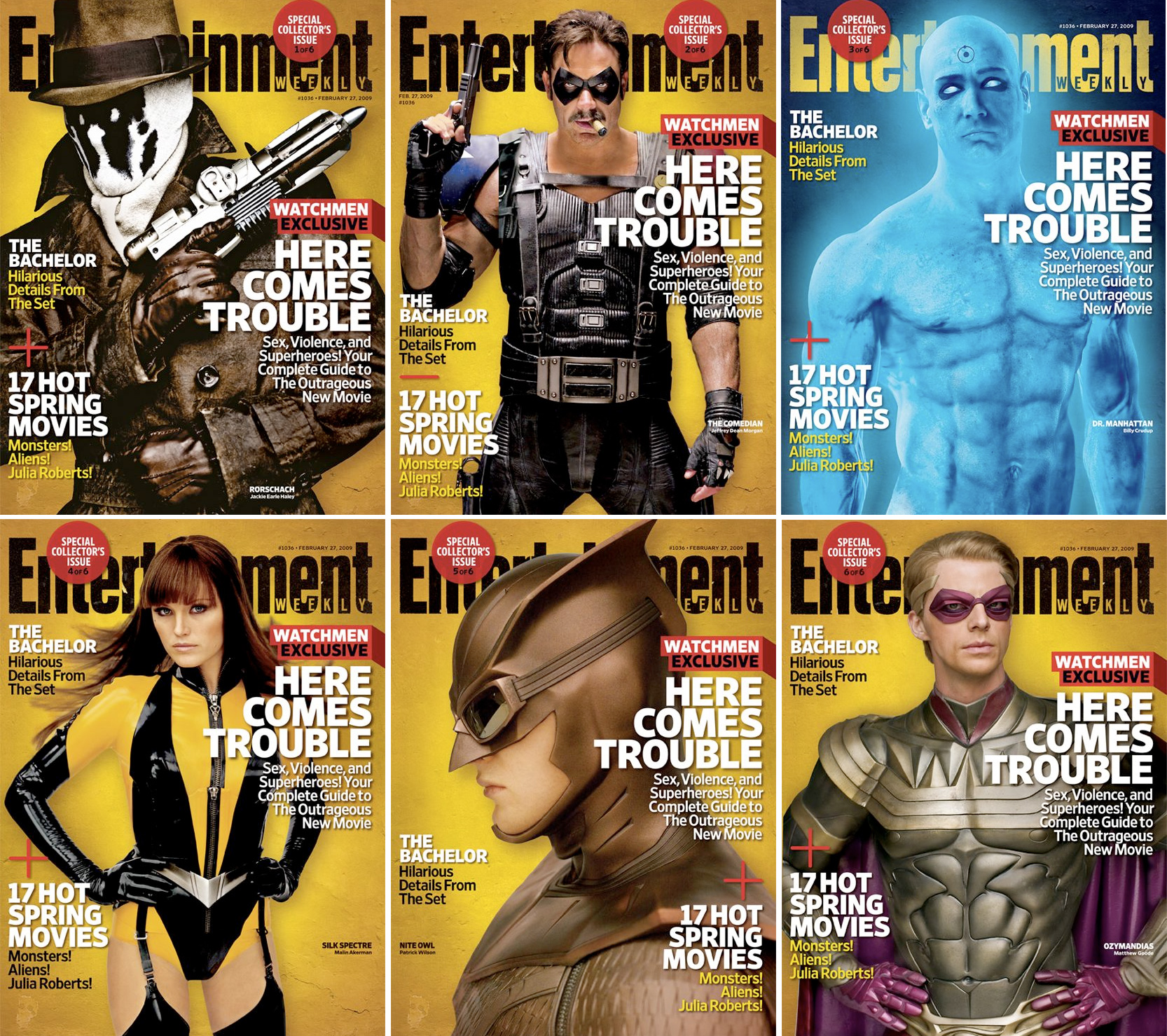 six watchmen collectible covers film
