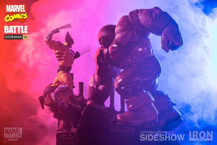 Wolverine vs Juggernaut Diorama Statue