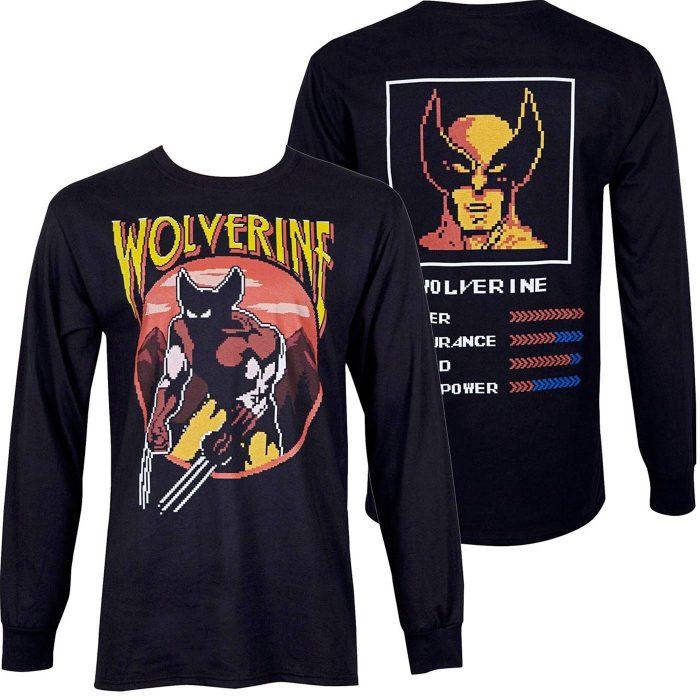 Wolverine T-Shirt Arcade Stats