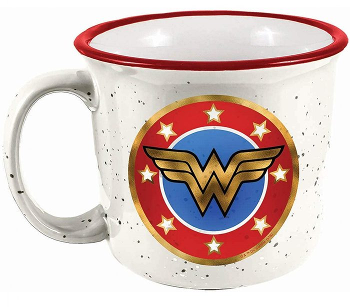 Wonder Woman Ceramic Camping Mug