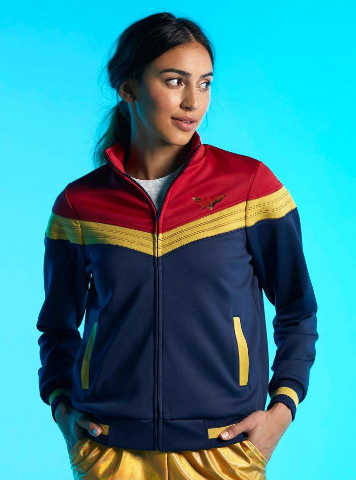 Wonder Woman Color Block Track Jacket
