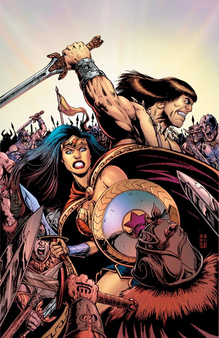 Wonder Woman and Conan the Barbarian