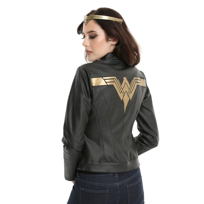 Wonder Woman Faux Leather Jacket