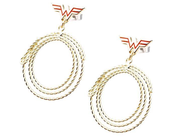 Wonder Woman Golden Lasso Earrings