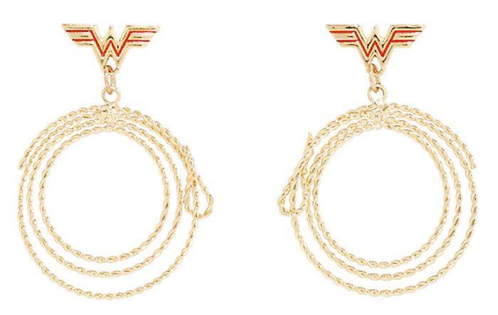 Wonder Woman Lasso of Truth Hoop Earrings