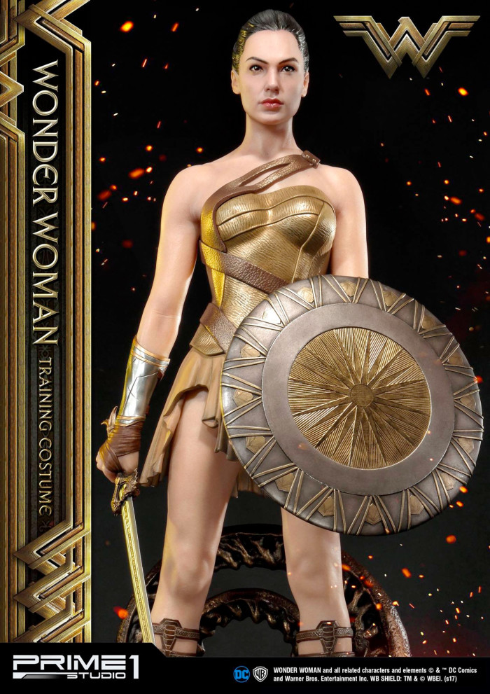 Wonder Woman Training Gear Statue