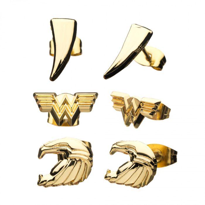Wonder Woman 1984 Golden Eagle Armor Earrings