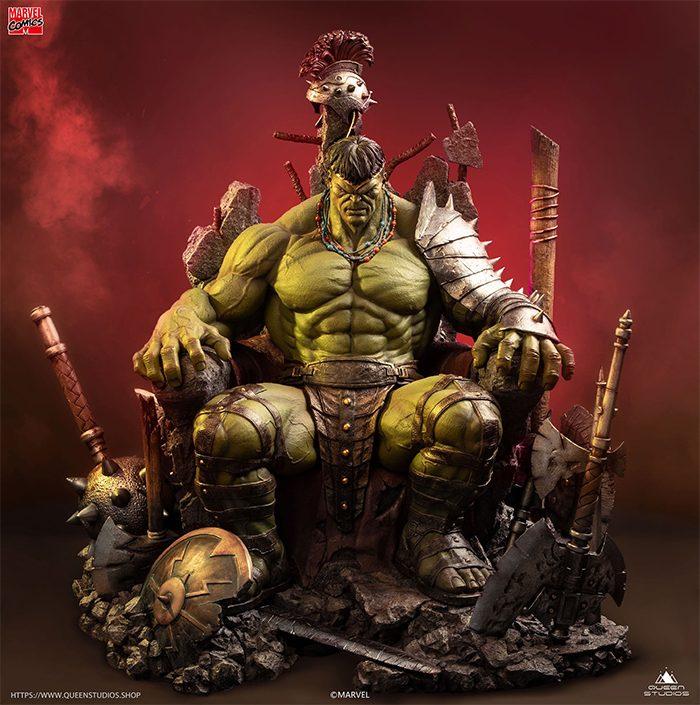 World War Hulk - Green Scar Hulk Statue