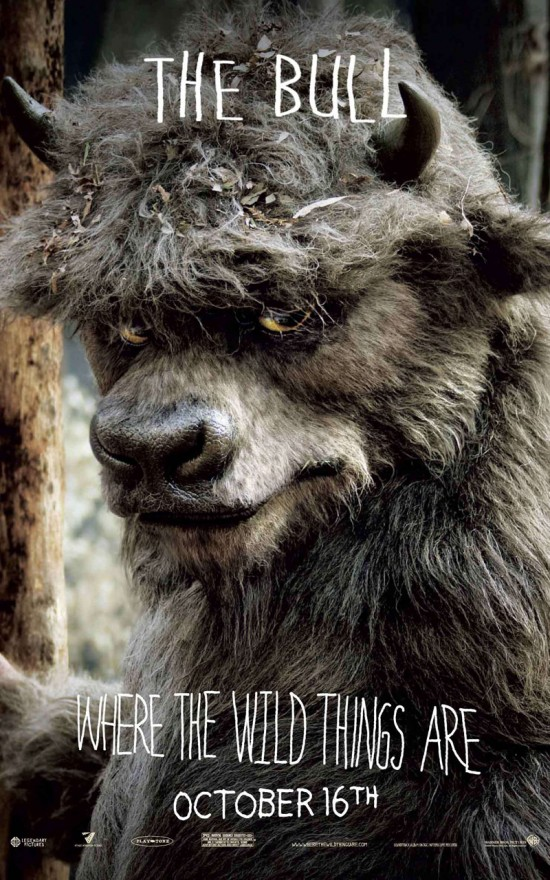 where the wild things are character banner the bull