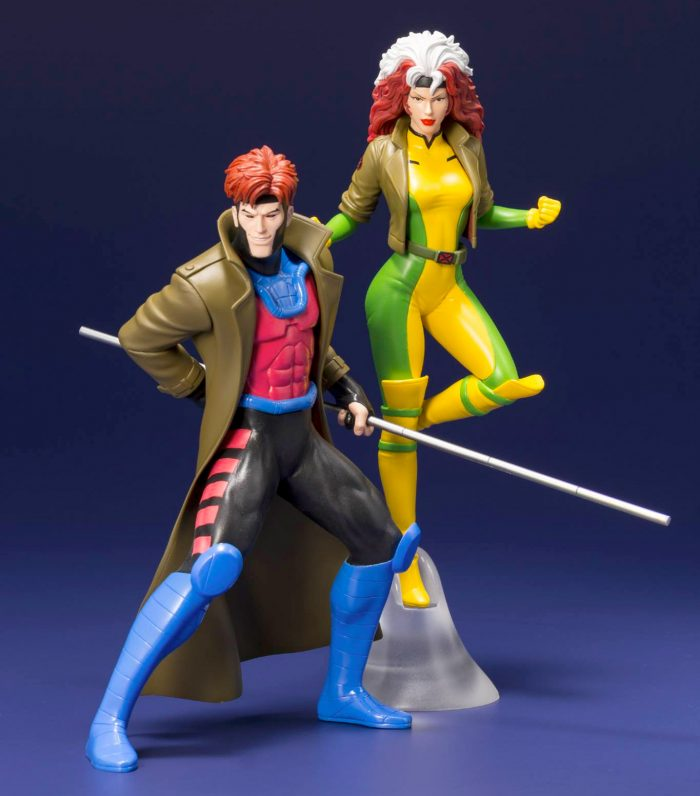 X-Men: The Animated Series - Rogue and Gambit Statues