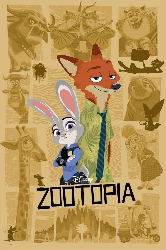zootopia print by joe dunn