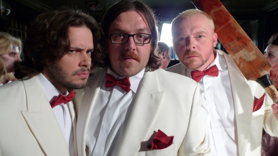 Edgar Wright, Nick Frost and Simon Pegg